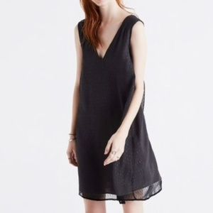 NWT Madewell Sparkle Sheer Silk Shift Dress